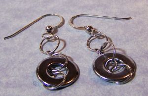 Silver and Steel Washer Earrings by SoundwarpSG-1