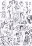 Sketchdump - Young OCs by FuriarossaAndMimma