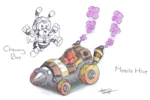 Charmy Bee, Mobile Hive concept by CyberMaroon