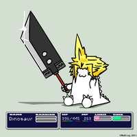 Dinosaur Facts - Buster Sword by DeathByStraws
