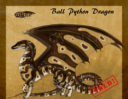 Ball Python Dragon -$ and Point Auction-(Closed!) by CC-DA-Wolf-Adopts