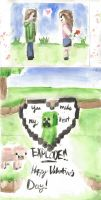 Minecraft Valentine by silvermoon442