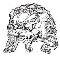 Foo Dog head by mostlymade