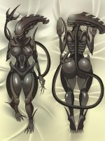 Dakimakura Commission: Nix the creeping shadow by deztyle
