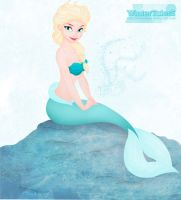 Elsa as a Mermaid. by WinterTalesS