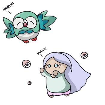 soft resetting for shiny rowlet be like by LillypieCannotDraw