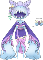 Sea Spirit Youkai Dentii - CLOSED by CloverWing