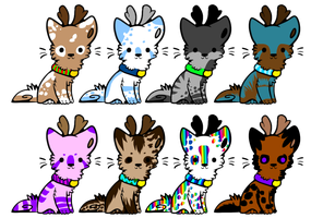 DeerDog Pups by PurrincessBunbun