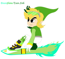 :.:REMAKE:.: - GreenFlame Toon Link by shadethecb