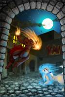 Collab: Garm vs Servil by Minas-the-Inkwolf