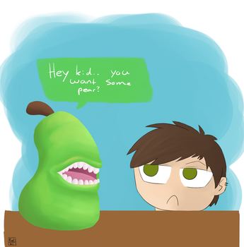You Want Some... Pear by IronMeow