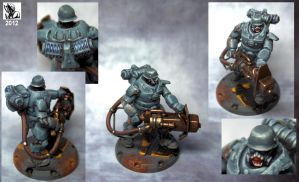 Heavy Laser Grenadier -Dust Tactics- by Ghrik