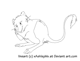 Kangaroo rat lineart by TheCynicalHound
