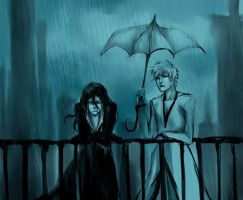 I hate this rain_ by NanFe