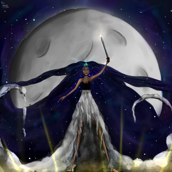 The Stars Will Aid Her Escape +Speedpaint by AnuHanele