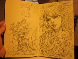 Moleskine sketch 1 by Sabinerich
