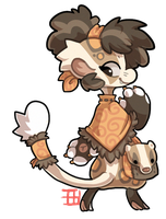 #123 Bagbean - Japanese badger by griffsnuff