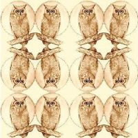 owls fabric by KRSdeviations