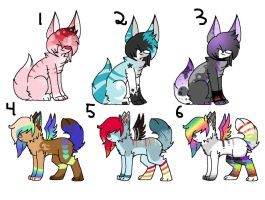 ::Gift Adopts:: by WolvesDestinyBlood