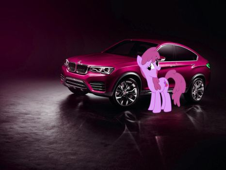 Berry Punch and her 2013 BMW Concept X4 by alerkina2