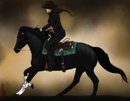 Ghost Rider   ::Horse Show:: by snowybell14