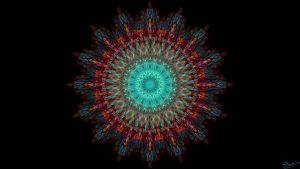 stained glass mandala by shaych03