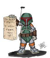 Daily Sketch - Boba Fett by LloydBridgemanInk
