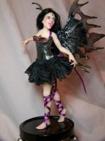 """Sable"" ooak vampire fairy2 by AmandaKathryn"