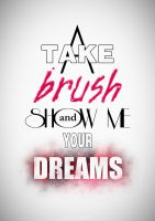 Take a brush and show me your dreams (white) by Jesse-Gourgeon