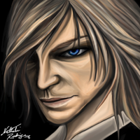 Raiden Portrait - Metal Gear by Deoxygenated