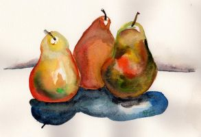 Pears by jenthestrawberry