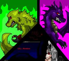 CELL Monsters by Vada-The-Darkfox