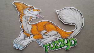Derpy Sergal badge commission by nightspiritwing