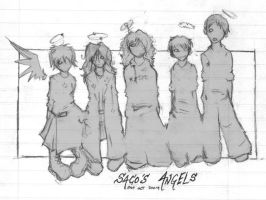 Saco's Angels doodlydoo by archimer