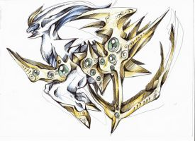 arceus 2nd version by Ravoilie