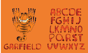 Garfield Typeface by MD3-Designs