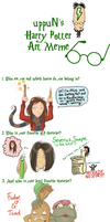 uppuN's Harry Potter Art Meme by Yellowtangerine42
