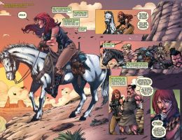 Red Sonja #73_pg 04,05_colors by MARCIOABREU7