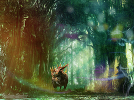 Elk of Thranduil in the elven forest by AnnaProvidence