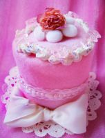 Sweet Straberry Cake Top Hat by pinkbutterflyofdeath