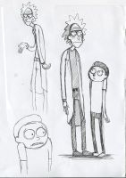 Rick-and-morty-sketches by Obman-Veschestv