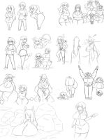 Lots of Characters by OverlordZeon