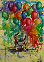 Colourful Balloons by Murley