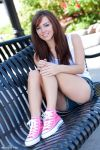 Tasha on a bench by RaymondPrax