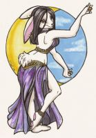 Belly-Dancing Bunny by afloof