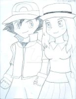 Ash and Serena by MegaJ1989
