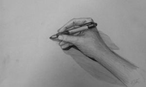 The Writing Hand zoom by GTracerRens