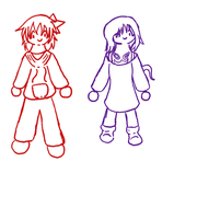 PP: Red and Purple doodles by EdenHall