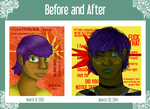 Negative Thinking: Before and After by AEIOUworks