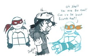 Mikey wants a human friend too by Doodlz18